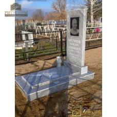 Памятник из мрамора - Прямой с плитой (увеличенный) PM0023-2 — ritualum.ru