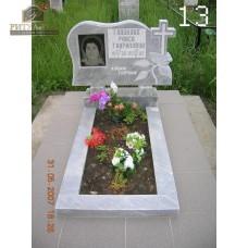 Памятник из мрамора - крест - роза13 — ritualum.ru