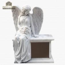 Скульптура ангела из мрамора №103 — ritualum.ru